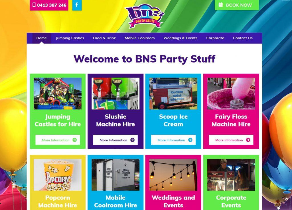 BNS Party Stuff - Website Screenshot