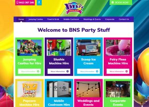 BNS Party Stuff - Website Screenshot