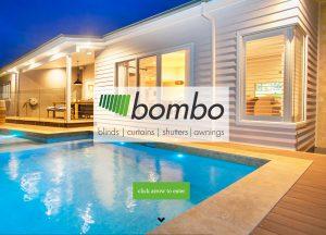 Bombo Blinds - Website Screenshot