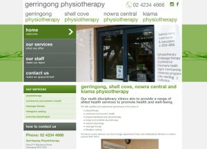 Gerringong Physiotherapy - Website Screenshot