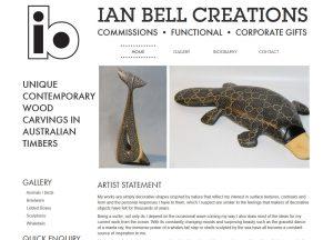 Ian Bell Creations - Website Screenshot