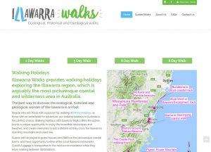 Illawarra Walks - Website Screenshot