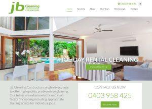JB Cleaning - Website Screenshot