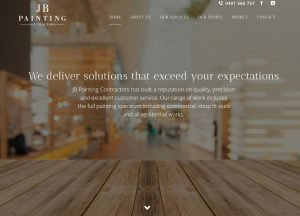 JB Painting - Website Screenshot