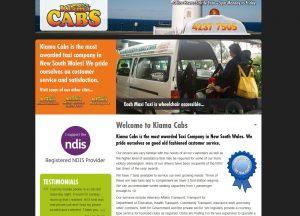 Kiama Cabs - Website Screenshot