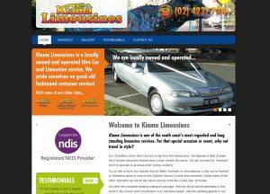 Kiama Limousines - Website Screenshot