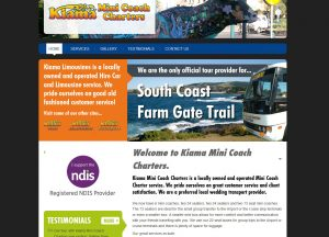 Kiama Mini Coach Charters - Website Screenshot