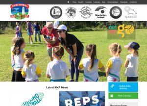Kiama Netball - Website Screenshot