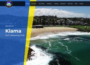Kiama Surf Lifesaving Club - Website Screenshot