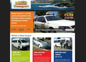 Kiama Transport - Website Screenshot