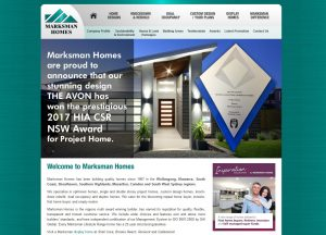 Marksman Homes - Website Screenshot