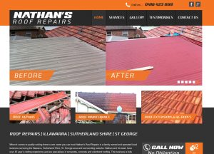 Nathans Roof Repairs - Website Screenshot