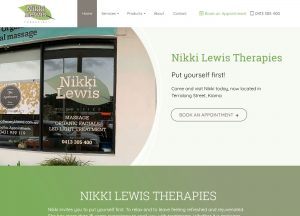 Nikki Lewis Therapies - Website Screenshot