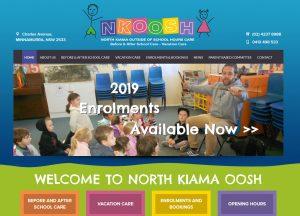 North Kiama OOSH - Website Screenshot