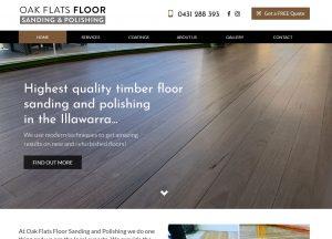 Oak Flats Floor Sanding - Website Screenshot