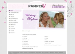 Pamper U - Website Screenshot