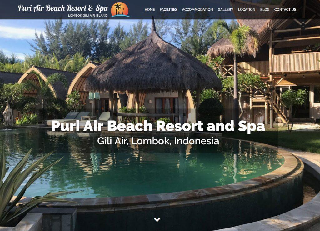 Puri Air Beach Resort and Spa - Website Screenshot