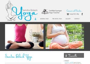Sandra Bolack Yoga - Website Screenshot