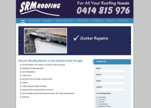SRM Roofing - Website Screenshot