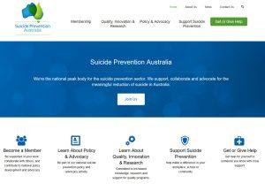Suicide Prevention Australia - Website Screenshot