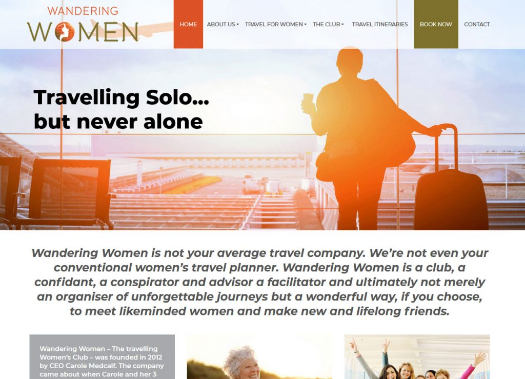 Wandering Women - Website Screenshot